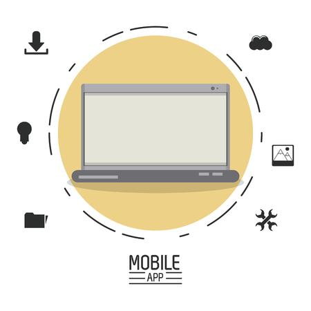 mobile communication: Mobile app technology icon vector illustration graphic design