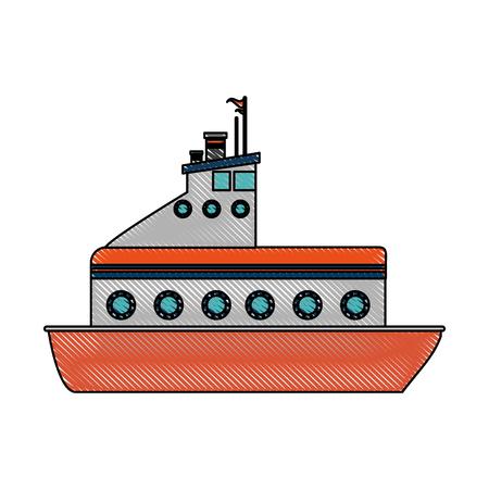 fishing boat icon image vector illustration design