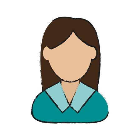 Woman avatar cartoon icon vector illustration graphic design