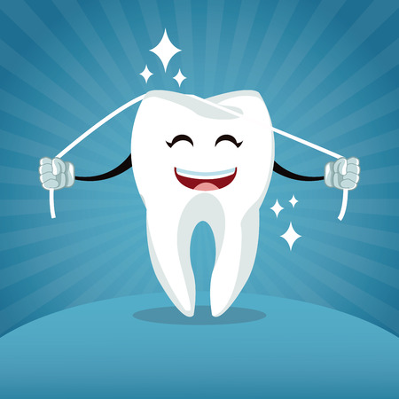 Dental care cartoons and icons icon vector illustration graphic design