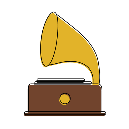 Gramophone music icon