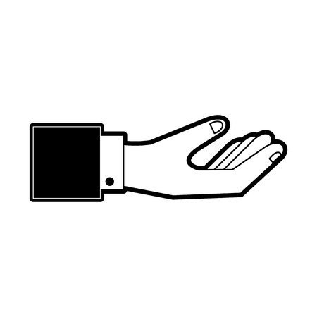 Hand with palm up icon