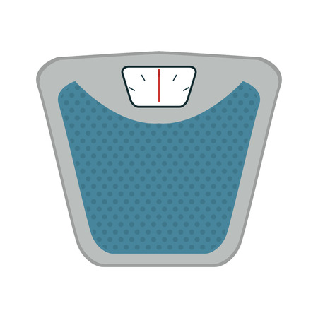 A weighing scale machine  icon image vector illustration design Illustration