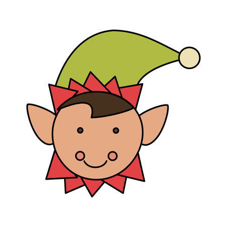 Cartoon design of elf for christmas related icon image vector illustration, isolated on white