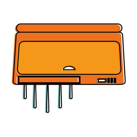 Air conditioning unit icon image vector illustration design