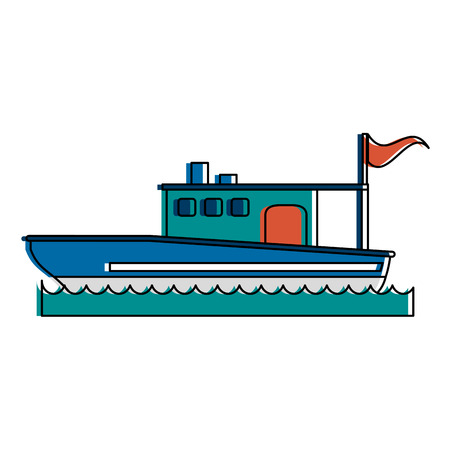 Fishing boat icon vector illustration design