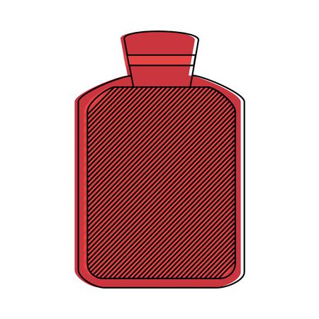 Hot water bag healthcare icon image vector illustration design. Vektorové ilustrace