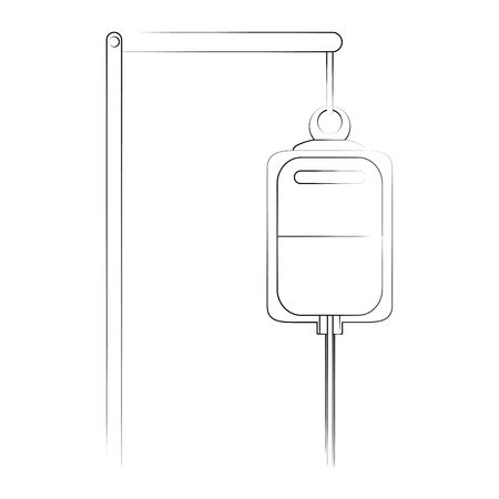 Iv bag healthcare icon image vector illustration design  fine sketch line.