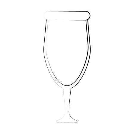 Glass of wine icon. Illustration