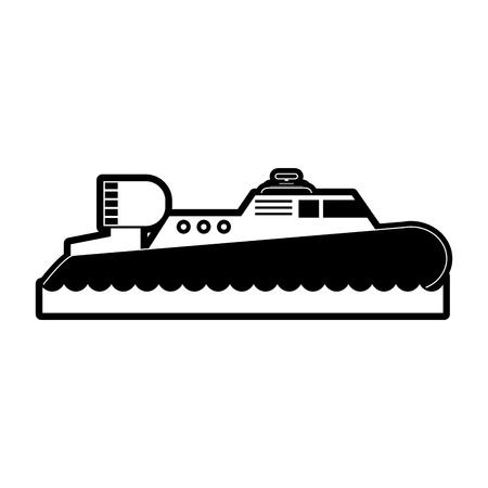 motor boat icon image vector illustration design Ilustracja