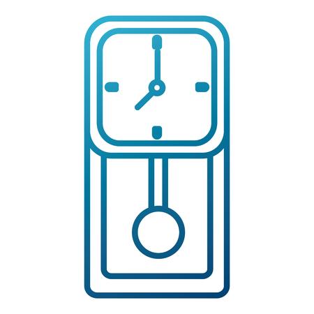 Wall clock isolated icon  illustration graphic design Иллюстрация