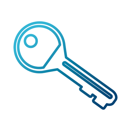 Door key isolated icon  illustration graphic design