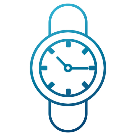 Wristwatch isolated symbol icon illustration graphic design
