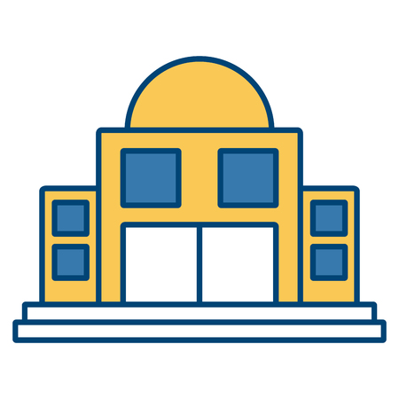 Observatory astronomy building icon