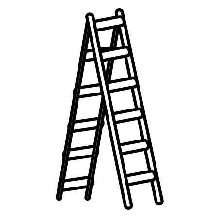 Step ladder tool icon vector illustration graphic design