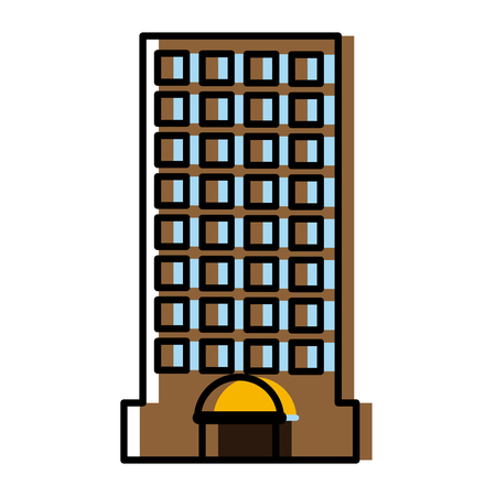edifice: City building edifice icon vector illustration graphic dsign