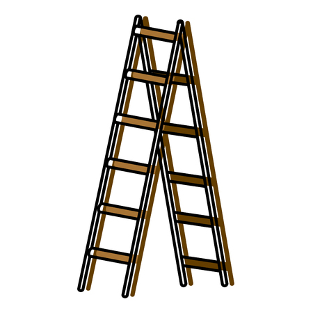 Step ladder tool icon vector illustration graphic design