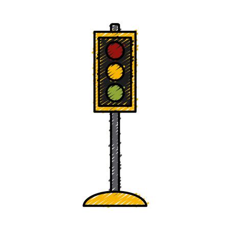 Traffic light semaphore icon vector illustration graphic design