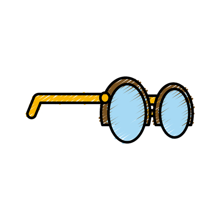 Nerd glasses symbol icon vector illustration graphic design Illustration