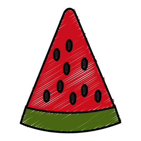 Sliced watermelon fruit icon vector illustration graphic design