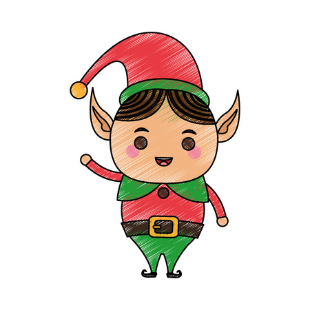 Elf christmas related icon image vector illustration design