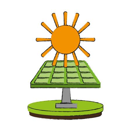太陽電池パネル エネルギー アイコン ベクトル イラスト グラフィック デザイン  イラスト・ベクター素材