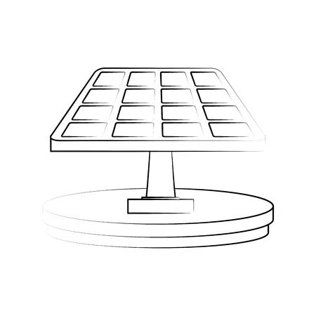 太陽電池パネルのエネルギーのアイコン。
