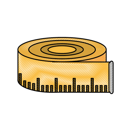 Measurement tape isolated icon vector illustration graphic design.