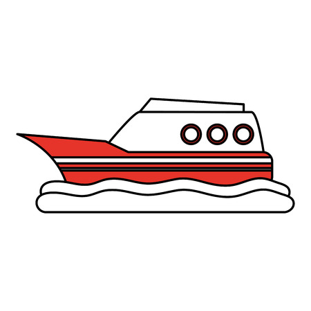 Ship boat vehicle icon vector illustration graphic design. Иллюстрация