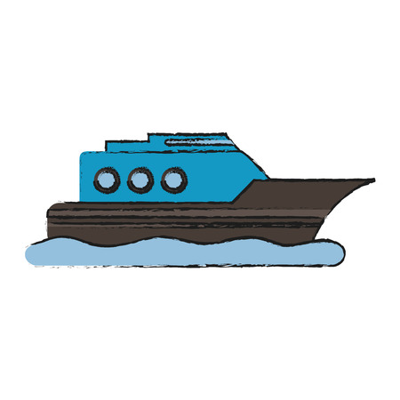 Ship boat vehicle icon vector illustration graphic design Иллюстрация