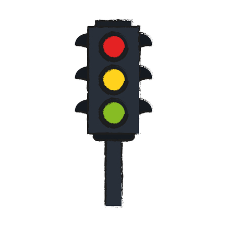 classic traffic stop light vector icon illustration graphic design