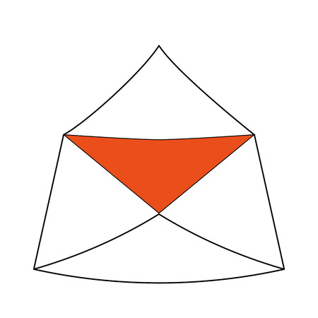 Envelope open mail icon illustration graphic design