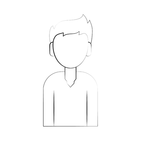 Avatar man character icon illustration graphic design