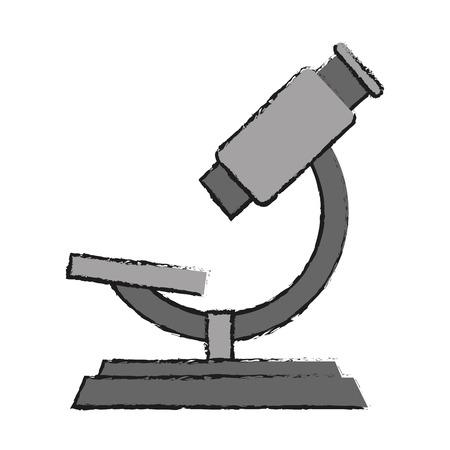 Science microscope icon illustration graphic design