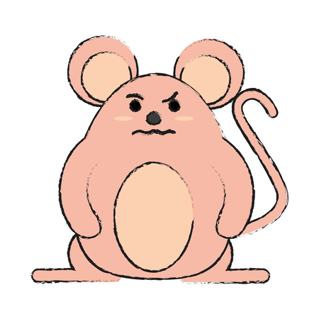 rude face mouse rodent vector icon illustration graphic design