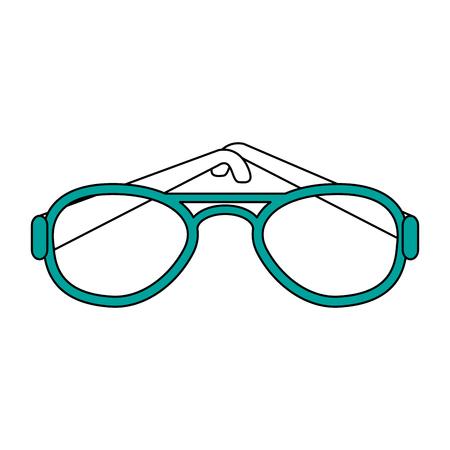 summer black sunglasses vector icon illustration graphic design Illustration