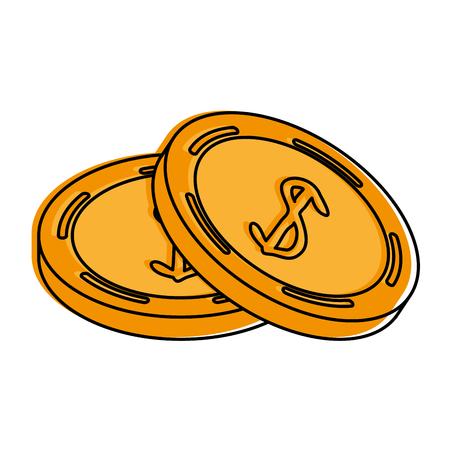 coins money icon image vector illustration design Illustration