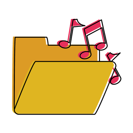 music file folder icon image vector illustration design Illustration
