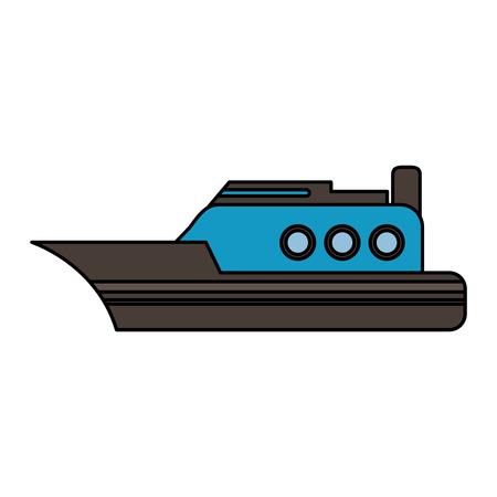 Schip zijaanzicht pictogram afbeelding vector illustratie ontwerp Stockfoto - 86632483