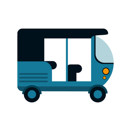 tuk tuk or rickshaw icon image vector illustration design Illustration