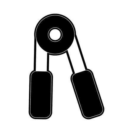 hand grip sports icon image vector illustration design  black and white
