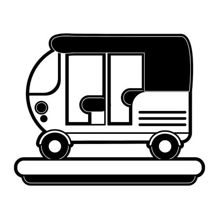 Tuk-tuk or rickshaw icon i
