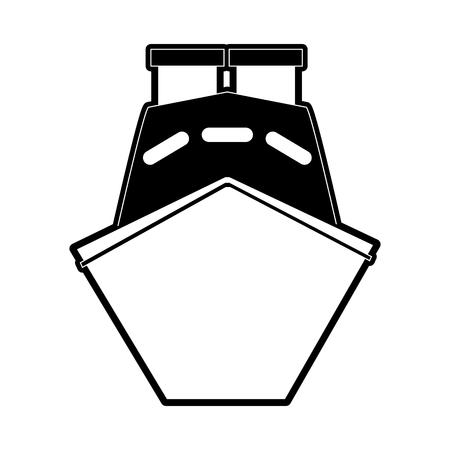 Verzend vooraanzicht pictogram