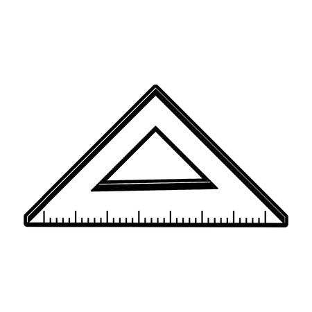 ruler measuring icon image vector illustration design  black and white