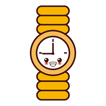 Wristwatch clock isolated icon vector illustration graphic design