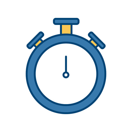 Clock timer isolated icon vector illustration graphic design