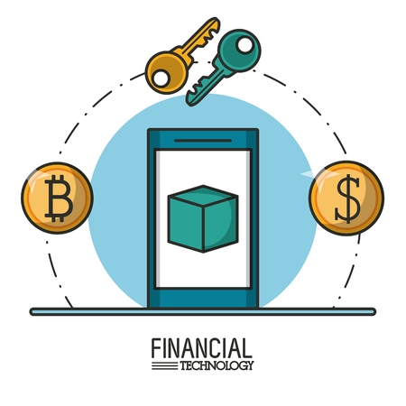 Money and financial technology icon vector illustration graphic design Illustration