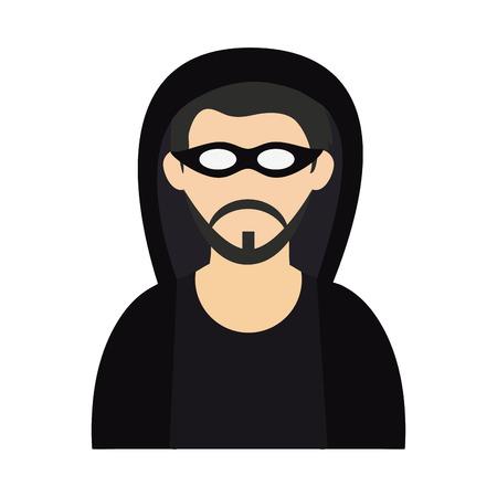 criminal young man icon image vector illustration design