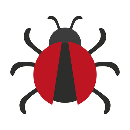 bug icon image vector illustration design Illustration
