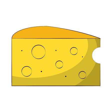 cheese slice  icon image vector illustration design Illustration